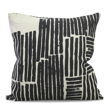 Cushion cover Logs - Black - Linen