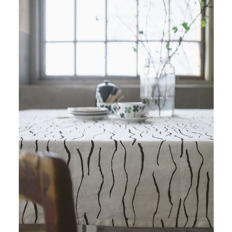 Tablecloth wave - Black