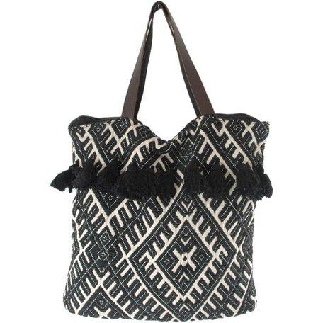 Bag LJ Brussels - black / white - Bohemian