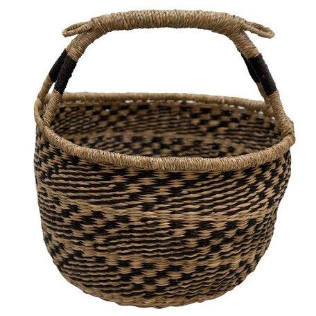 Basket Togo - natural / black