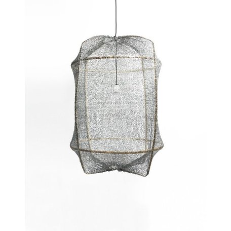 Ay illuminate - lamp - Z1 - black frame - grey sisal net