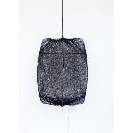 Lamp Z1 - zwart frame - zwart sisal net