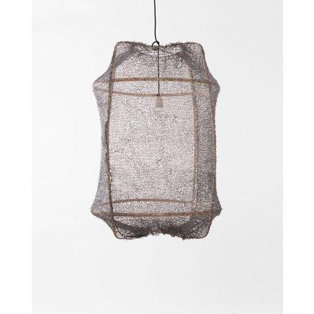 Hanging lamp - Z2 - blond frame - grey sisal net