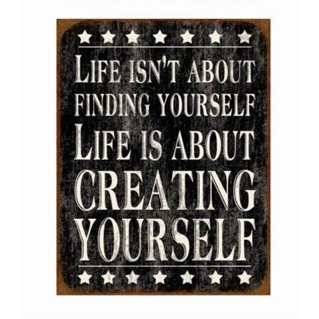 Tekstbord creating yourself