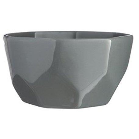 Geometric grey bowl