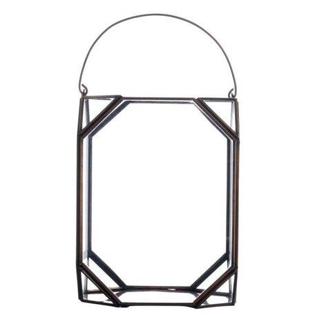 Lantern glass in copper PCH10086