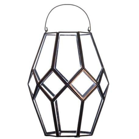 Lantern glass in copper PCH10087