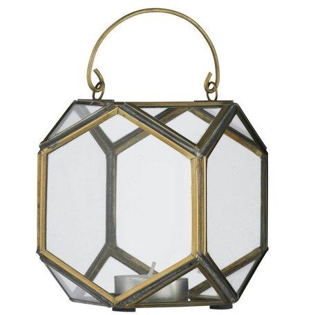Lantaarn glas in messing PCH11262B