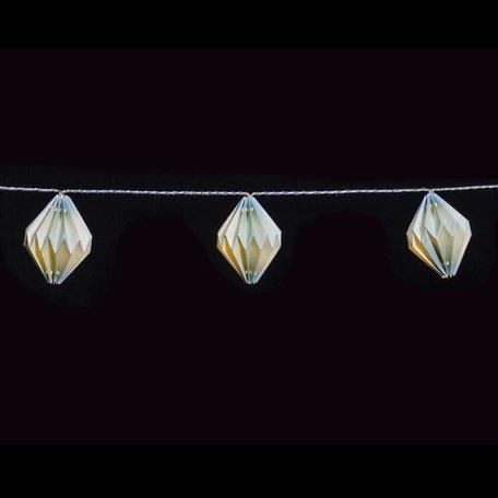 Lichtsnoer papieren diamant lampjes groen