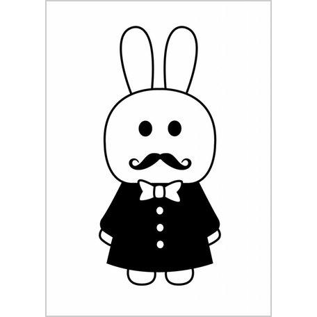 Zwart wit Poster Mr Agent