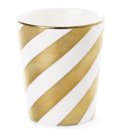 Beker diagonaal streep goud
