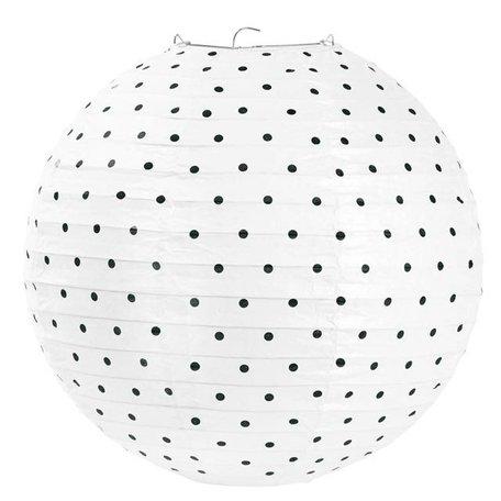 Rice paper lamp small black dots 30.5 cm