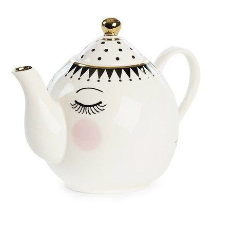 Theepot with eyes and dots TP027