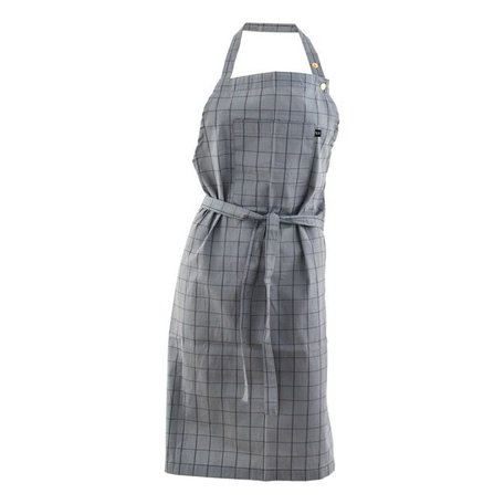 Kitchen apron Grid grey