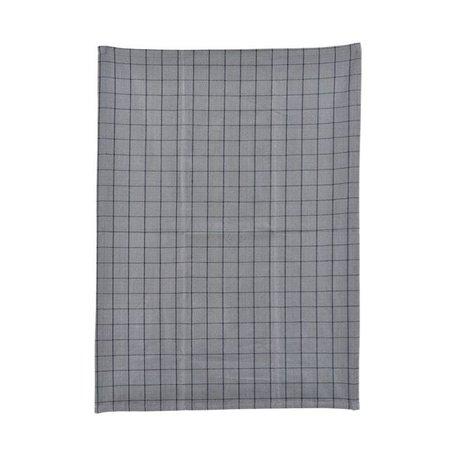 Tea towel Grid grey