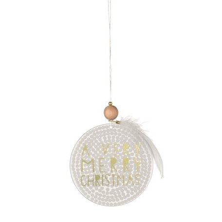 Frosted glass ornament A very merry christmas