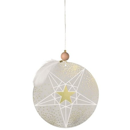 Frosted glass ornament stars gold