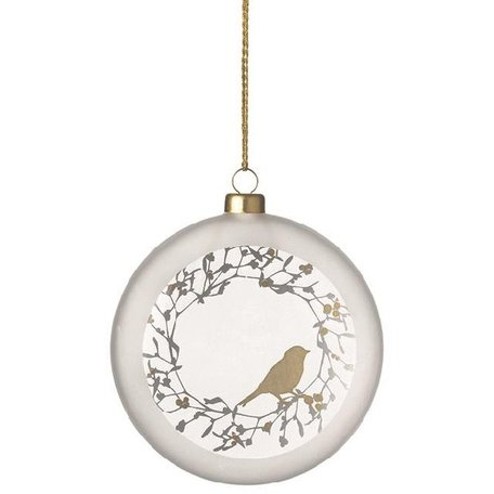 Frosted medallion bird