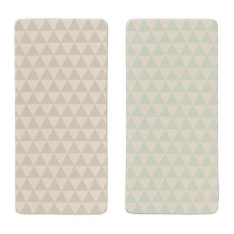 Bloomingville Olivia dienblad triangle grijs