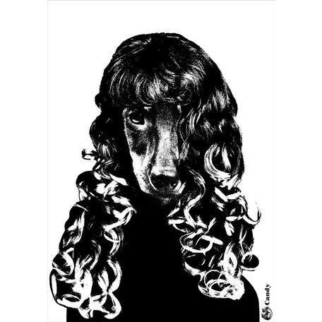 A4 zwartwit Art print Tillsammans - Candy