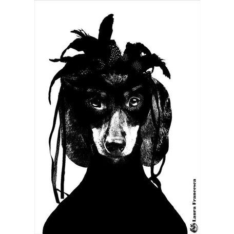 A4 zwartwit poster - Laura Francesca