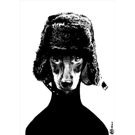 A4 monochrome poster - Owe