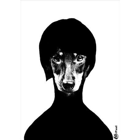 A4 zwartwit poster - Paul