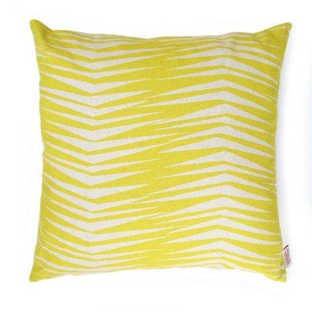 Cushion cover Fronds raffia yellow