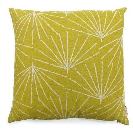 Cushion cover Palmetto pine nut - mustard yellow