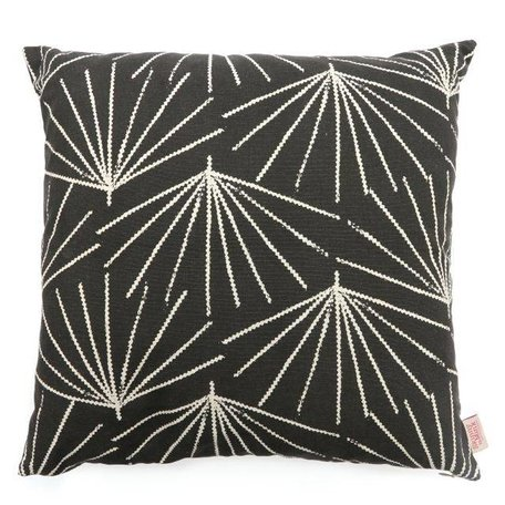Cushion cover Palmetto tarmac - black