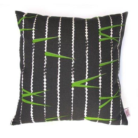Cushion cover Zigzag tarmac - black