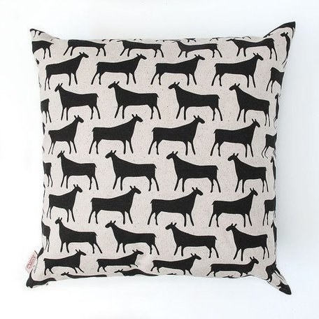Cushion cover Herds - black