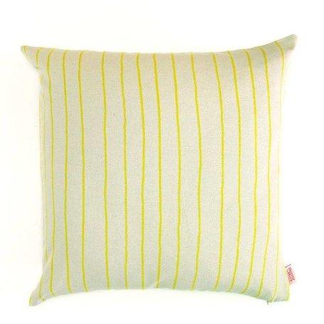 Kussenhoes Simple - stripe lemon