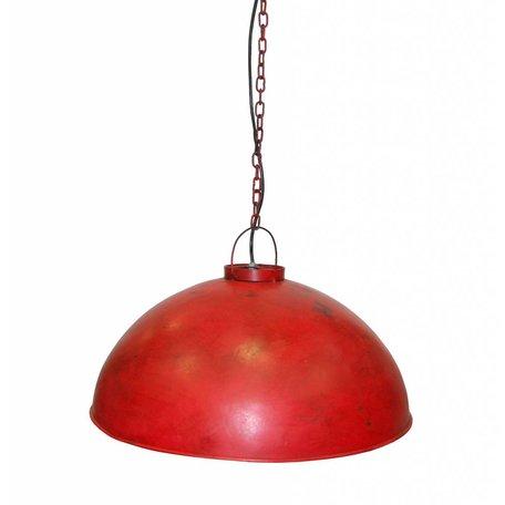 Industrial pendant lamp - red