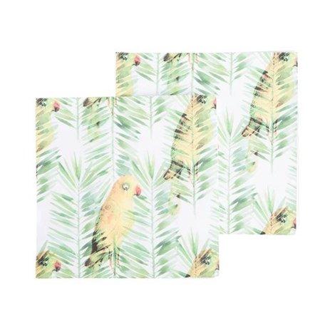 Papieren servetten - Jungle parrot all over