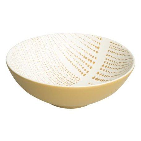 Schaaltje Ruka saffran - stripes - Ø 13 cm