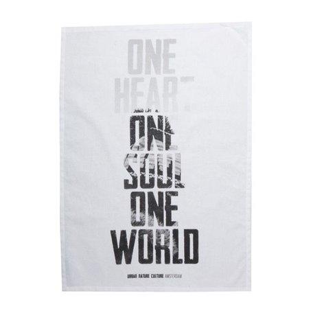 Set of 2 tea towels One world