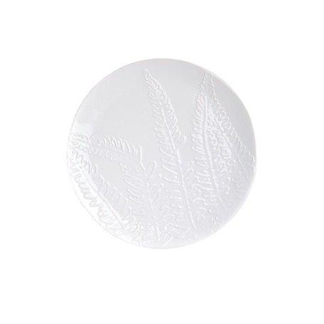 Wit ontbijtbord leaf Ø 17 cm