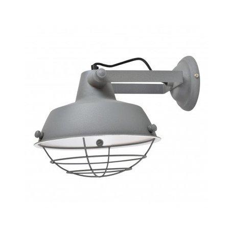 Industrial wall lamp prison - grey