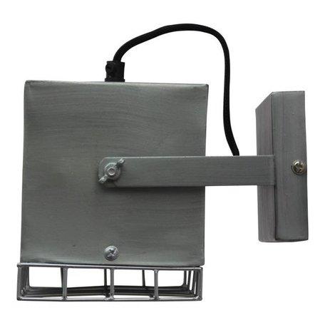 Wandlamp Cube - antiek zink