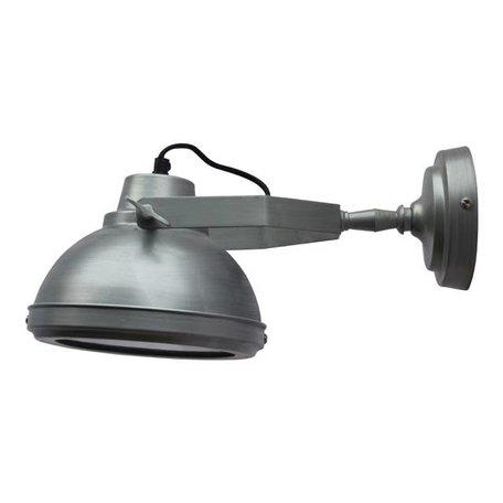Wandlamp Factory - antiek zink