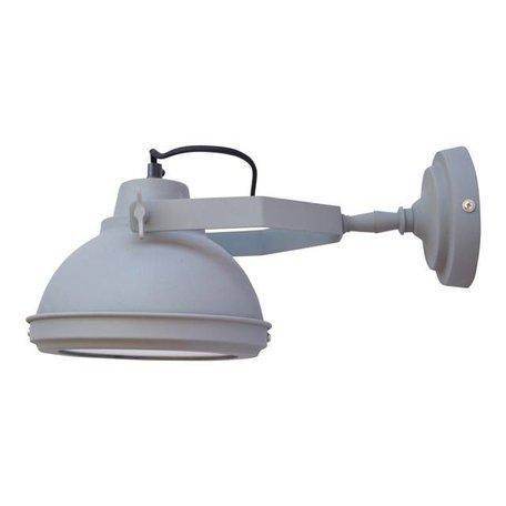 Wandlamp Factory - vintage grijs