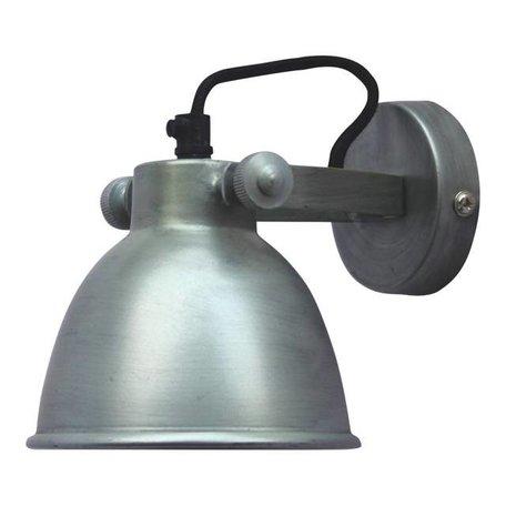 Wandlamp Industrial - antiek zink