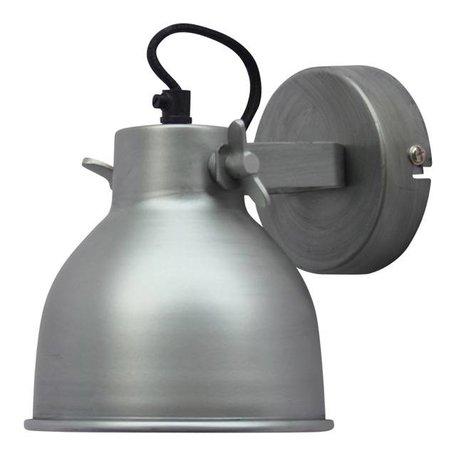 Wandlamp Industrial - antiek zink - Large