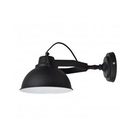 Wandlamp Urban - Ø 20 CM -  vintage zwart