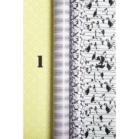 Gift paper Spring time - Yellow stripe nr 1
