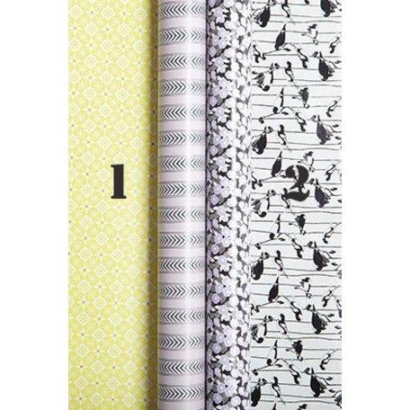 Gift paper - Flower / bird nr 2