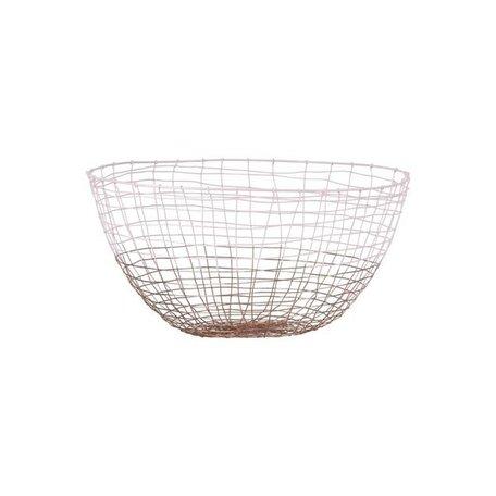 Wire basket Deep - pink / copper