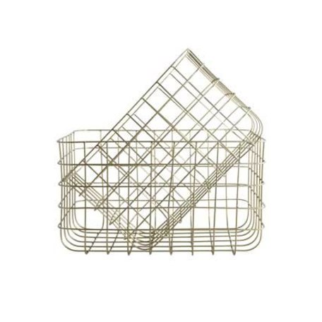 Wire basket Simply -  Gold - Large