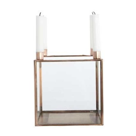 Candle holder cube Square - copper